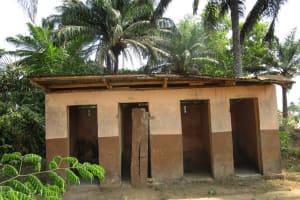 The Water Project: Lungi, Komkanda Memorial Secondary School -  Staff Quarter Latrine