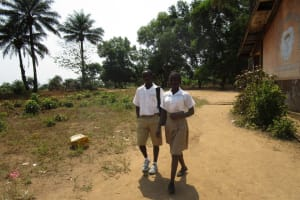 The Water Project: Lungi, Komkanda Memorial Secondary School -  Students Out Of Class Room