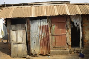 The Water Project: Lungi, 25 Maylie Lane -  Latrine And Bathing Shelter