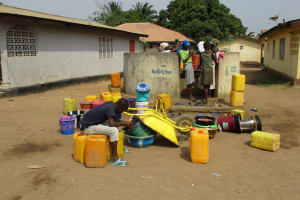 The Water Project: Lungi, 25 Maylie Lane -  Main Water Source