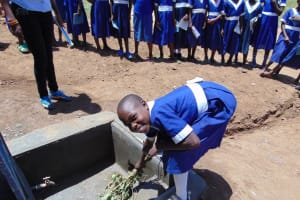 The Water Project: Musango Primary School -  Learning How To Care For The Water Tank