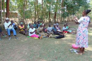 The Water Project: Sambuli Community, Nechesa Spring -  Handwashing Training