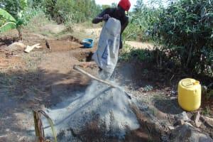 The Water Project: Sambuli Community, Nechesa Spring -  Mixing Cement