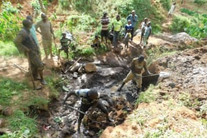 The Water Project: Ibinzo Community, Lucia Spring -  Spring Excavation
