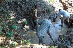 The Water Project: Kambiri Community, Sachita Spring -  Excavation