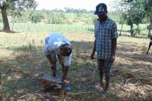 The Water Project: Kambiri Community, Sachita Spring -  Spring Construction