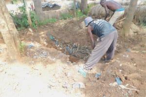 The Water Project: Ichinga Muslim Primary School -  Digging Latrine Pit