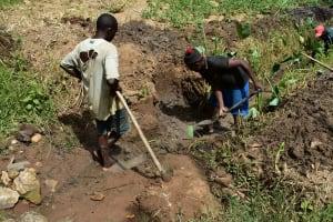 The Water Project: Emukoyani Community, Ombalasi Spring -  Excavating