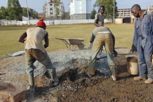 The Water Project: Green Mount Primary School -  Mixing Cement