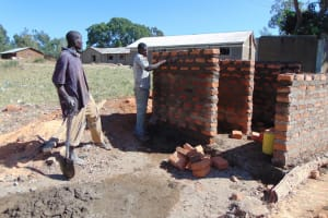 The Water Project: Lwakhupa Primary School -  Latrine Construction
