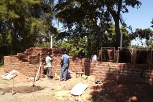 The Water Project: Chebunaywa Secondary School -  Latrine Construction