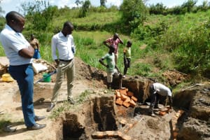 The Water Project: Mukoko Community, Mshimuli Spring -  Spring Construction