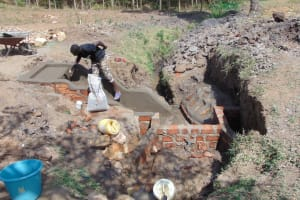 The Water Project: Sambuli Community, Nechesa Spring -  Spring Protection Construction