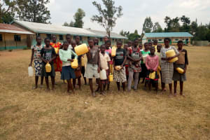 The Water Project: Musango Primary School -  Students Who Helped Get Water For Construction