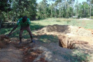 The Water Project: Musango Primary School -  Digging A Latrine Pit