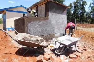 The Water Project: Sango Primary School -  Latrine Construction