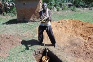 The Water Project: Imbinga Community, Arunga Spring -  Digging Latrine
