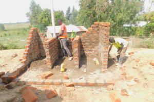 The Water Project: Ichinga Muslim Primary School -  Latrine Construction