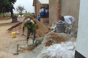 The Water Project: Lwakhupa Primary School -  Mixing Cement