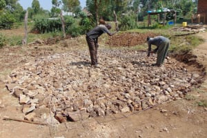 The Water Project: Lwakhupa Mixed Secondary School -  Tank Foundation Construction