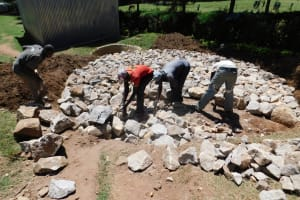 The Water Project: Koitabut Secondary School -  Tank Foundation Construction