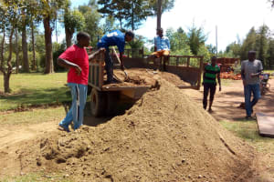 The Water Project: Ivumbu Primary School -  Dropping Off Sand For Construction
