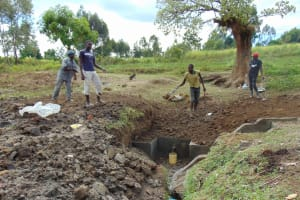 The Water Project: Sambuli Community, Nechesa Spring -  Backfilling