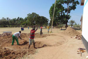 The Water Project: Lwakhupa Primary School -  Excavating For The Foundation