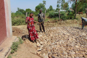 The Water Project: Lwakhupa Mixed Secondary School -  Measuring The Tank Foundation