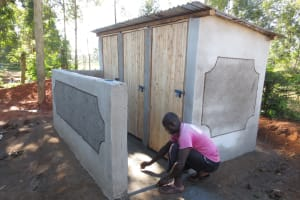 The Water Project:  Finishing Touches On Latrines