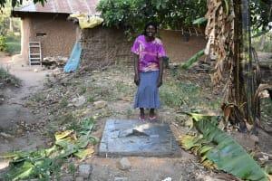 The Water Project: Emukoyani Community, Ombalasi Spring -  Finished Sanitation Platform