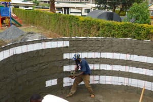 The Water Project: Green Mount Primary School -  Tank Construction
