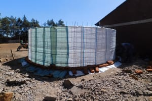 The Water Project: Sango Primary School -  Tank Construction