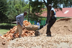 The Water Project: Koitabut Primary School -  Wheelbarrow Of Stones