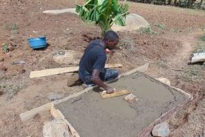 The Water Project: Sambuli Community, Nechesa Spring -  Sanitation Platform Construction