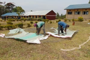 The Water Project: Lwakhupa Mixed Secondary School -  Knitting Together The Mesh For The Dome