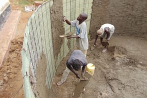 The Water Project: Musango Primary School -  Tank Construction