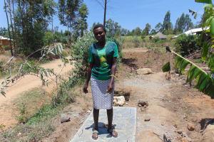 The Water Project: Sambuli Community, Nechesa Spring -  Finished Sanitation Platform