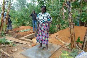 The Water Project: Ibinzo Community, Lucia Spring -  Finished Sanitation Platform