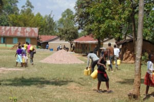 The Water Project:  Students Bringing Water To The Construction Site