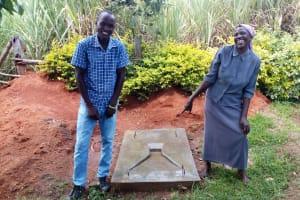 The Water Project: Bukhakunga Community, Mukomari Spring -  Sanitation Platform