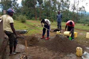 The Water Project: Ivumbu Primary School -  Tank Construction