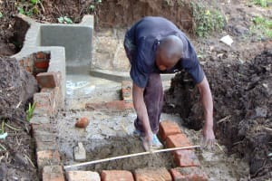The Water Project: Kambiri Community, Sachita Spring -  Measuring Stairs