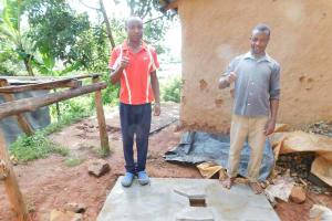 The Water Project: Mukhunya Community, Mwore Spring -  Sanitation Platform