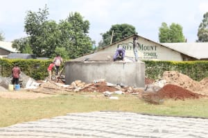 The Water Project: Green Mount Primary School -  Dome Construction