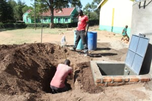 The Water Project: Koitabut Primary School -  Tank Construction