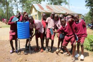 The Water Project: Ivumbu Primary School -  Handwashing Station