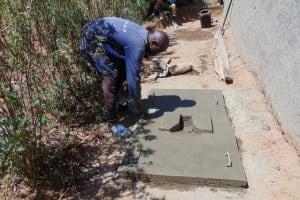 The Water Project: Kambiri Community, Sachita Spring -  Sanitation Platform Construction