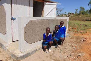 The Water Project: Lwakhupa Primary School -  Finished Latrines