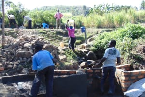 The Water Project: Imbinga Community, Arunga Spring -  Spring Construction